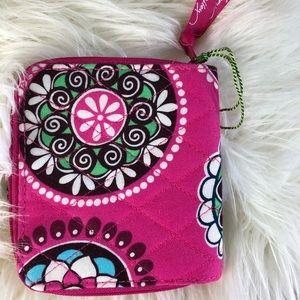 Vera Bradley Mini ZIP Wallet Cupcake Pink